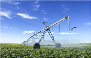 Picture of an irrigation rig.