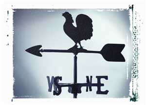 Picture of a weather vane.